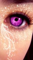 Glittered Eye by sWeetRaiNbowCaK3