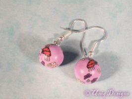 Purple insect earrings by Moon-Q