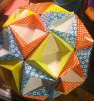 My origami kusudama. 30 pieces of origami paper. by DragonEconomic221