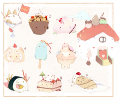[CLOSED] ADOPT AUCTION 128 - Food Pet by Piffi-adoptables
