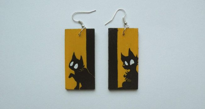 'The Eyes' Earrings by faktoria-f