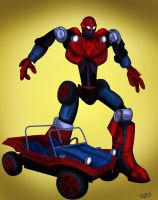 Spider Mobile Goes GO-BOT by Rene-L