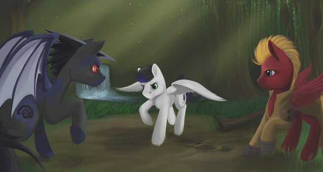 Forest Fight (Commission for Cooper217) by boomythemc