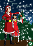Alexia and Reimu Christmas pic, 2016 by Carmichael-Micaalus