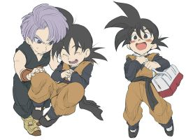Goten and Trunks by Umintsu