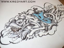 Sketch Graffiti by KreDy