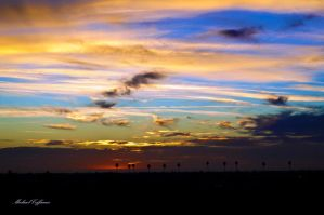 Sunset over Porterville, CA by BMWCoffman