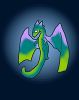 Color dragon by Mearow