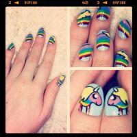 Lady Rainicorn Nail Art by VioletLeBeaux