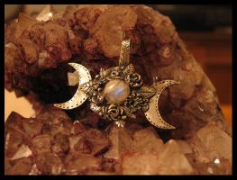 Triple Goddess pendant by drakonaria