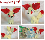 Fennekin gen 6 pokemon plush by SilkenCat