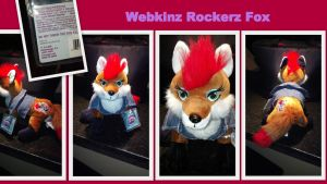Webkinz Rockerz Fox by Vesperwolfy87