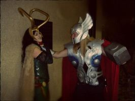 Lady Loki w Thor - Sibling Rivalry by ShinrasFlurry