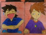 Little Ash and Gary XD by Ash-Misty-Pikachu