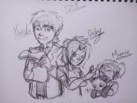 Request: Yanda, Dicky and Minnie~! by Pixelboid