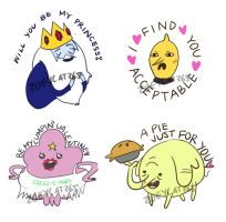 Adventure Time sticker valentines by zoeycat365