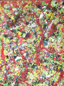 Tribute to Jackson Pollock by Lew-Rosenberg