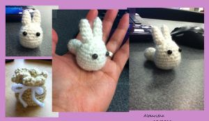 Comission: Tiny White Totoro by altearithe