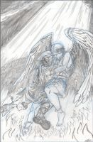 The Book of Love Cover pencils by tedwoodsart