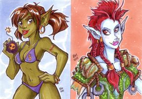 ACEO: Horde Girls by Kayley