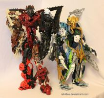 Bionicle MOCs: Two Brothers by Rahiden