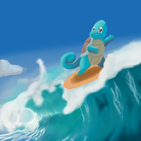 Squirtle Surf by KokoKiero