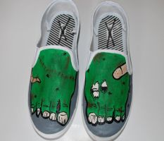 Zombie Shoes by Illicit-Diamonds