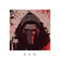 Star Wars portrait XII - Kylo Ren by ArtClem
