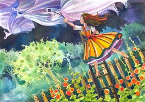 Wedding dress for my sister by Vasylissa