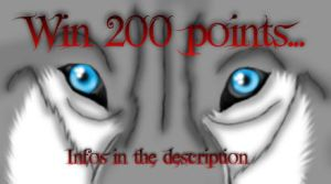Win 200 points/gagnez 200 points by NaraWolfFH