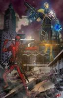 Dead Pool and Cable by Spot80