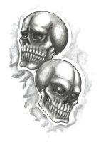 theatre skulls by Bheliar
