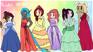 Ladies in Gowns by AlwaysForeverHailey