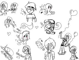SKETCHIES from.. -Too Long XD- by NiiNouky
