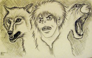 Three Angry Faces by Inkwerk
