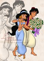 CP - Aladdin and Jasmine by selinmarsou