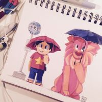 Steven and Lion by sarehkee