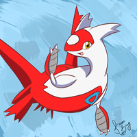 Latias doodle by WhiteFire-Inc