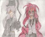 Grell and Unny by DragonLuver99
