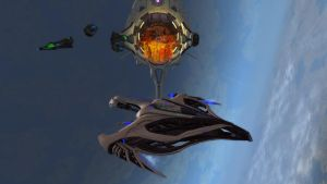 Romulan Aves Class Science Destroyer by Wyrdrune