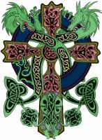celtic cross-color by SmoothRaven7
