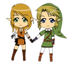 Fate and Link - Chibi - Trade by Linkage92