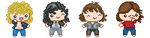 Pixel Icons of Led Zeppelin by TheWritingDragon