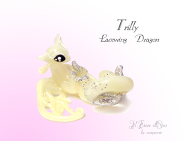 Trilly, Lacewing dragon by rosepeonie