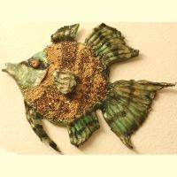 Seed bead mosaic fish by peripheral-visions
