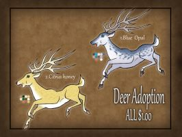 Deer adoptables 2 CLOSED by RyuAmano