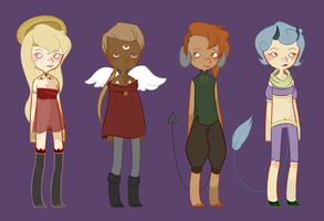 Set 16: Angels and Demons [CLOSED] by spacecaptainadopts