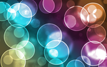Colorful Bubble Bokeh Wallpaper by amandaluvsya