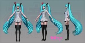Hatsune Miku: High Poly 2 by HazardousArts