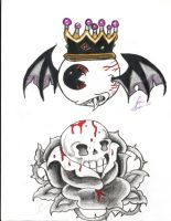 tato's_1flying_eye_2rose_skull by yukax-poison